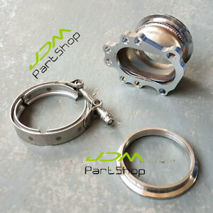 """T25 T28 GT25 GT28 8 Bolt Turbo Downpipe Flange to 3.0"""" V-band Conversion Adapter"""