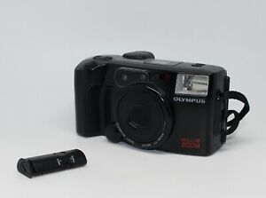 Olympus AZ-200 Superzoom 35mm Compact Camera with remote, case and batteries VGC
