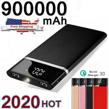 Ultra thin Portable External Battery Huge Capacity Power Bank 900000mAh Charger