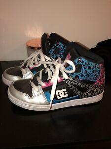 Kids Dc Shoes Size 6 Cheetah Leopard Womens 7.5
