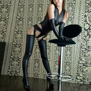 Sexy Womens Lingerie PVC PU Leather Bodysuit Jumpsuit Dance Clubwear