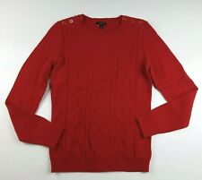 Talbots Women's Cable Knit Sweater Red Petite Size P