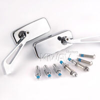 """KiWAV Motorcycle Mirrors CNC Convex ClassicChrome 10mm & 5/16"""" for Motorcycle"""