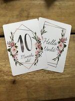 Baby Milestone Cards - Floral Shower Christening Gift Newborn Photo Prop Cheap