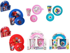 Children' 5 Piece Breakfast Lunch Dinner Set Novelty Red Blue Dining Characters