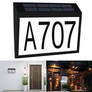 Solar LED Address Light House Door Number Sign Waterproof Plaque Light Wall Lamp