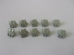 10 x Cute Grey Elephant Baby Novelty Shank Buttons 14mm Sewing Craft J1