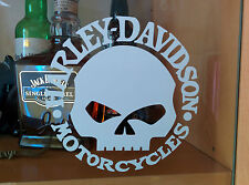stickers autocollant harley davidson skull sportster iron  ( 10 cm )