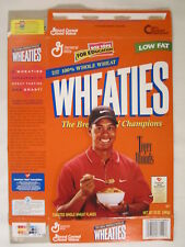 Empty WHEATIES Cereal Box 1998 12oz TIGER WOODS [G7E9d]