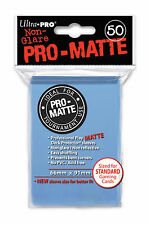 1 box 600 Ultra Pro-Matte Light Blue Deck Protector Sleeves Magic The Gathering