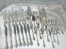 Gorham Sterling  Silver Flatware Rose Tiara Pattern 42 Pc
