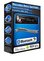 Mercedes Sprinter DEH-3900BT car stereo, USB CD MP3 AUX input Bluetooth kit