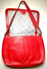 """BODHI Handbag - Red and White Pebbled Leather 12"""" inch wide"""