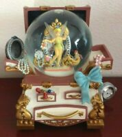 "COLLECTIBLE DISNEY TINKER BELL SNOWGLOBE MUSIC BOX "" YOU CAN FLY!"" W/CLOCK.WORKS"