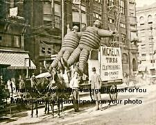 Vintage 1904 Funny Odd Strange Weird Huge Michelin Man/Men Parade Photo Image