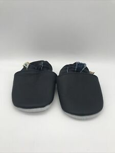 Baby Boy Soft Sole Shoes Navy Leather