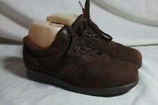 SAS FREE TIME ORTHOPEDIC BROWN SUEDE LEATHER LACE UP 7.5 N EURO 38 SHOES WOMENS