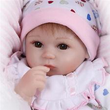 "Baby Doll Reborn Lifelike Vinyl Newborn Girl Handmade Silicone 17""Gift Realistic"
