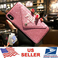 Bling Card Holder Envelope Wallet Case Cover For iPhone XS Max XR X 8 7 6s Plus