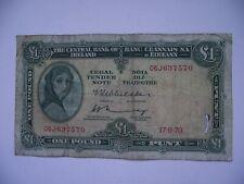 IRELAND/ÉIRE. 1970 LADY LAVERY IRISH BANKNOTE@1 POUND/PUNT. FREE POSTAGE