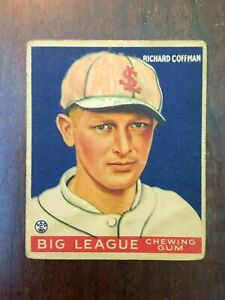 1933 Goudey  #101 Dick Coffman