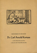 Carl Arnold Kortum (Arzt + Dichter a Bochum): Adams Hochzeitsfeyer, Lyrik, 1949