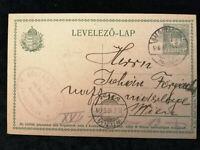 Ungarn 15.07.1916 - Postkarte Ganzsache LEVELEZÖ-LAP nach Wien