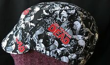 CYCLING CAP THE WAKING DEAD  100% COTTON PRINT ONE  SIZE OR ANY SIZE HANDMADE