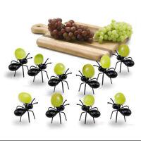 12x Arbeiter Ameisen Party Picks Obst Gabel Snack Kuchen Dessert Serviergabeln