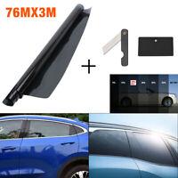 BLACK CAR WINDOW TINT FILM TINTING DARK SMOKE 20% 75cm x 3M