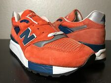 "Men's New Balance M998CTL Size 13 Connoisseur ""East Coast Summer"" Orange"