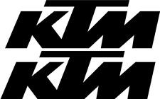 2 x KTM  Logo Viele Farben Größe 13 cm x 4 cm ANSEHEN