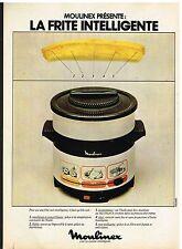 Publicité Advertising 1978 La friteuse Moulinex