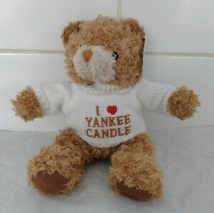 """YANKEE CANDLE TEDDY BEAR 8"""" With Tags and Jumper I ❤️ Yankee Candle"""