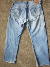RARE TAB VINTAGE Levi's 501 Faded Blue Jeans 38 x 32 ~~Ships FREE~~