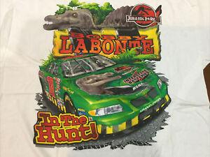 2001 Vintage NASCAR Shirt Bobby Labonte Jurassic Park Jumbo Print Shirt NOS XL