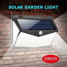 2pcs 208LED Solar Power PIR Motion Sensor Wall Light Outdoor Garden Pathway Lamp