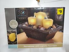 SARAH PEYTON HOME - FLAMELESS LED CANDLE FOUNTAIN - NEW IN OPEN BOX