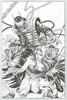 Dark Nights Metal 6 DC 2018 Tyler Kirkham BW Virgin Variant Batman Who Laughs