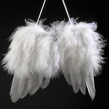 New White Angel Feather Wings xmas Tree Party Hanging Ornaments Party Decoration