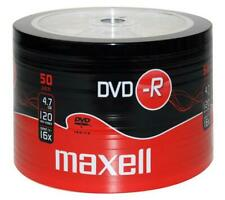 50 x  Maxell DVD-R Blank Recordable Discs DVDR SHRINK WRAPPED Bulk 50 Pack