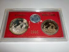 "- INDIA -  2 COIN  PROOF SET -  "" FISHERIES "" - 1986 - RS. 100 & 20 - RARE"
