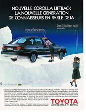 PUBLICITE ADVERTISING 124  1987  TOYOTA   COROLLA LIFTBACK