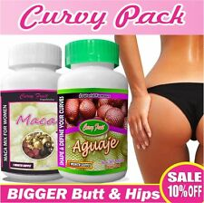 Curvy Pack: Aguaje Curvy Fruit + Maca 3 For BIG Booty & Hips US SELLER(SALE 10%)