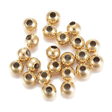 100pc 304 Stainless Steel Bead Round Golden 4x3.5mm Jewelry Finding Loose Spacer