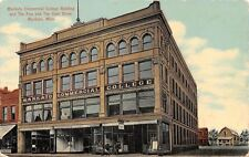 Mankato MN~Commercial College~Unique Theatre~Landkamp Hohman 10c Store~1910 Adv