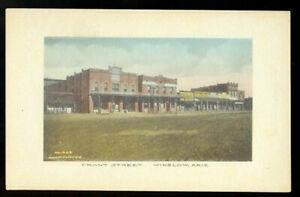 hand-colored Fred Harvey postcard No. 462, pre-Route 66 Winslow, Arizona c.1910
