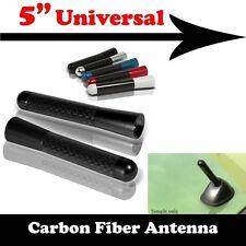"Real Carbon Fiber Black Aluminum Alloy Screw Antenna Short 5"" Inch For Toyota"