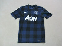 Nike Manchester United Soccer Jersey Adult Small Blue Black Futbol Dri Fit Mens