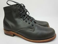 Wolverine 1000 Mile Plain Toe Grey Leather Boots Size 9.5 D